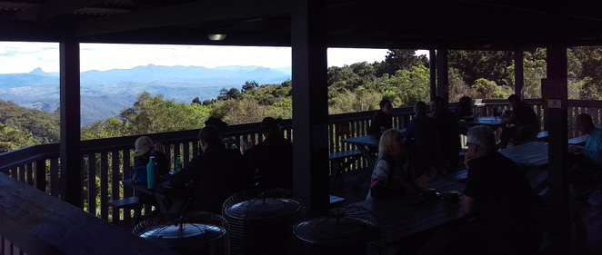 The view from O'Reilly's Mountain Cafe's back deck