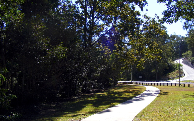 The last part is to follow the path along side the Samuel Griffith Drive