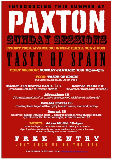 Paxton wines, Sunday sessions, McLaren vale, Adelaide events, free events Adelaide, McLaren vale wineries, Paxton wines