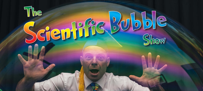 Photo from website:https://www.brightsparkentertainment.com.au/the-scientifibubble-show