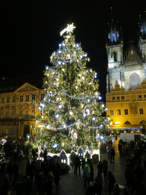 prague, christmas, tree