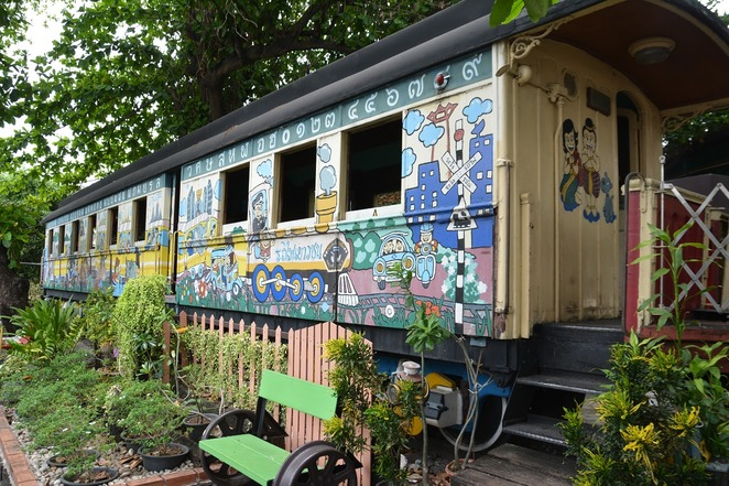 Rail train carriage accommodation house home cottage vintage