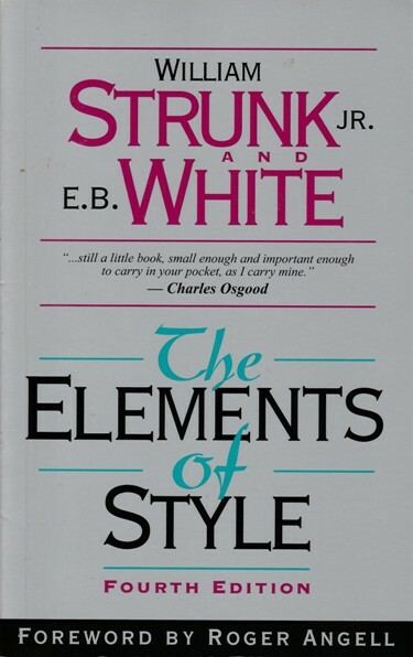 strunk, white, elements, style, writing, book