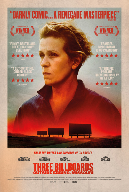 Three Billboards outside Ebbing Missouri, Fox Studios, Film, Review