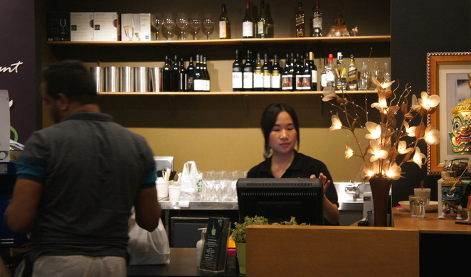 Tosakan Thai sells authentic Thai at a reasonable price with friendly service