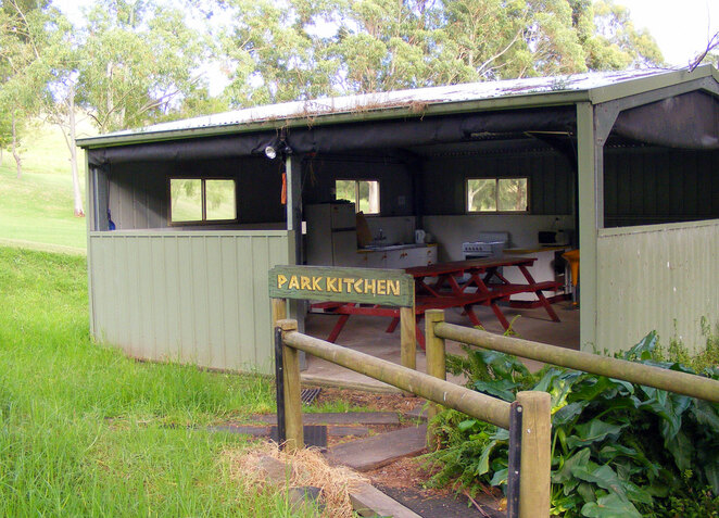 Commercial caravan parks and campsites have showers, camp kitchens and even swimming pools