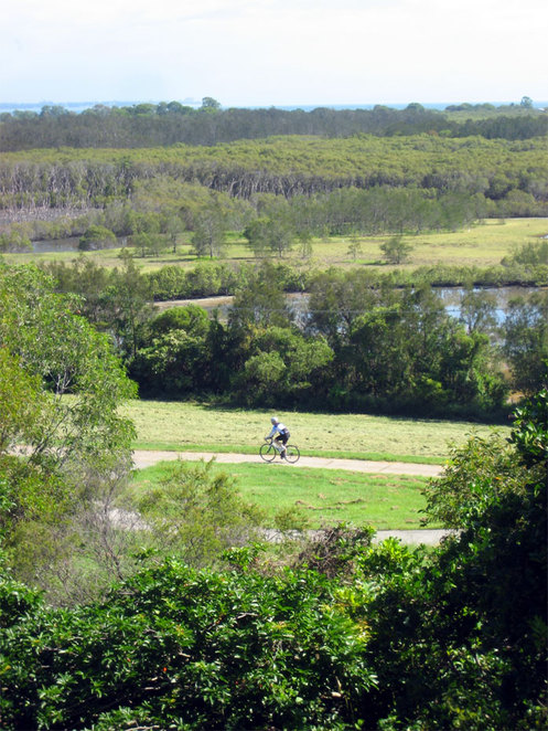 Cycling through Boondall Wetlands