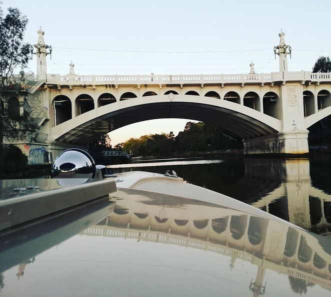 Cruise under Melbourne's historic bridges