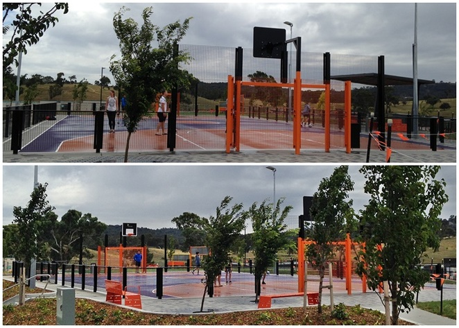basketball courts, moncrieff community park, canberra, ACT, basketball courts in canberra, free basketball courts, gungahlin,