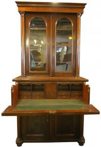 bookcase, glebe, antiques, secretaire, vintage, second-hand, furniture, victorian, mahogany, drawer