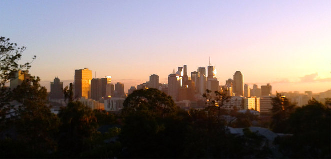 Brisbane city at sunrise