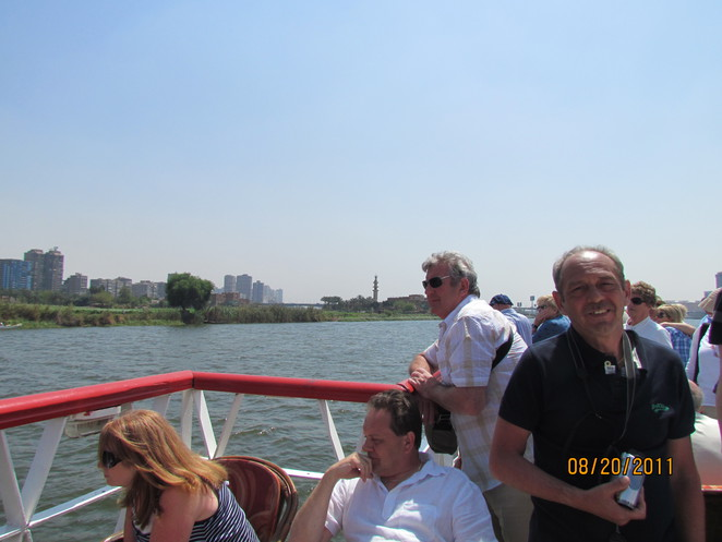 Cairo, atop of the Nile cruiseboat
