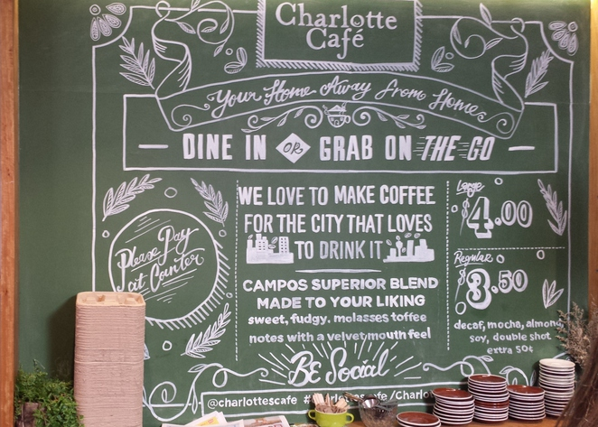 Charlotte Cafe Campos coffee