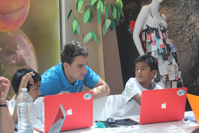 Coders with their coach