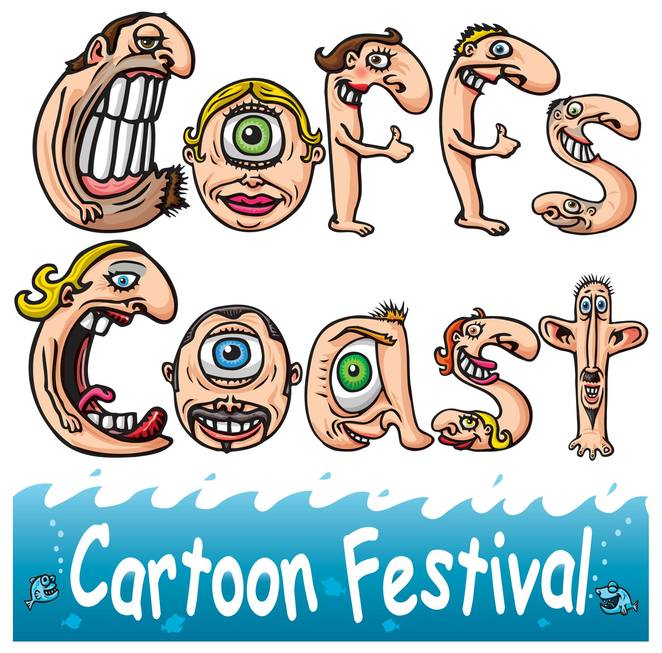 coffs coast cartoon festival 2018, community event, fun things to do, art exhibition, artists, harbourside markets, rotary cartoon awards, the bunker cartoon gallery, cartoon workshops, pop up shops, markets, live drawing, caricatures, pavement art, grand cartoon costume parade, fun activities, entertainment