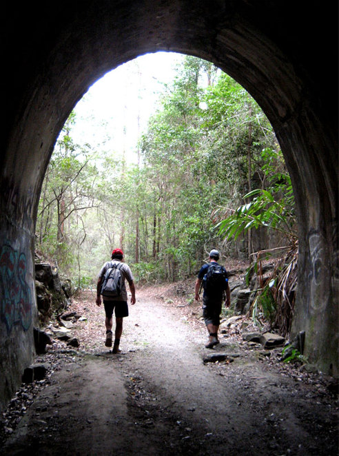 Hiking the old railway tunnel in Dularcha National Park