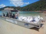 Eco barge Clean Seas inc, Whitsunday marine debris removal, Airlie beach Clean up