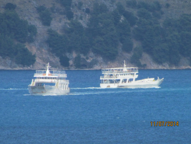 ferries on the bay