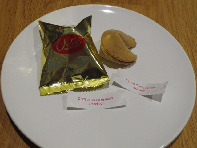 In Thais Cafe & Noodle Bar, Fortune Cookies, Adelaide