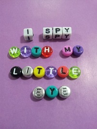 i spy bottle kids game letter beads craft