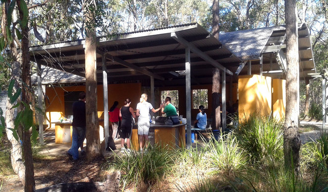 Barbecue area at the Koala Bushlands