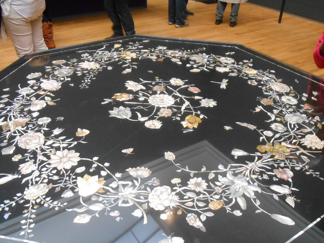 mother of pearl, table, rijksmuseum furniture
