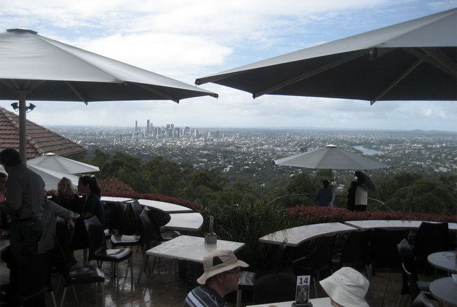 View from the Kuta Cafe at the summit of Mt Coot-tha