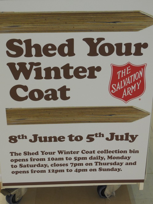 Shed Your Winter Coat Salvation Army Appeal at Karrinyup Shopping Centre
