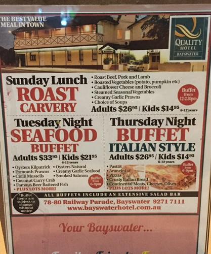 specials,at,the,Bayswater,Hotel