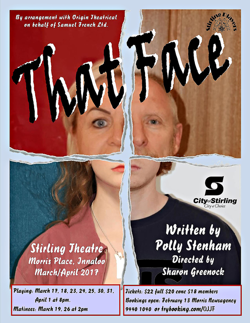 That Face, Stirling Players, Stirling Theatre, Polly Stenham, Sharon Greenock