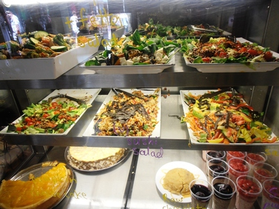 Some of the sumptuous selection of salads which can be enjoyed at the Cardamom Pod.