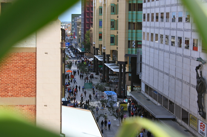 The view down to Rundle Mall