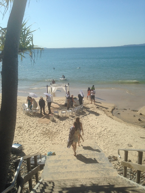 Wedding on the beach at Little Cove Noosa