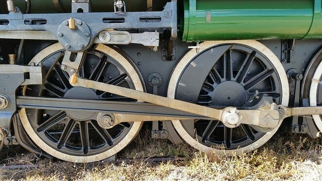 Wheels, train, railway, tracks, locomotive, engine