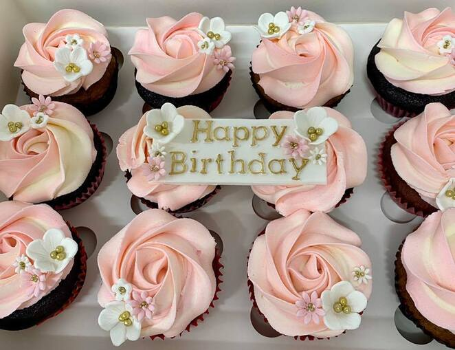 Cupcakes can be made to order - A box of beautiful gluten free cupcakes