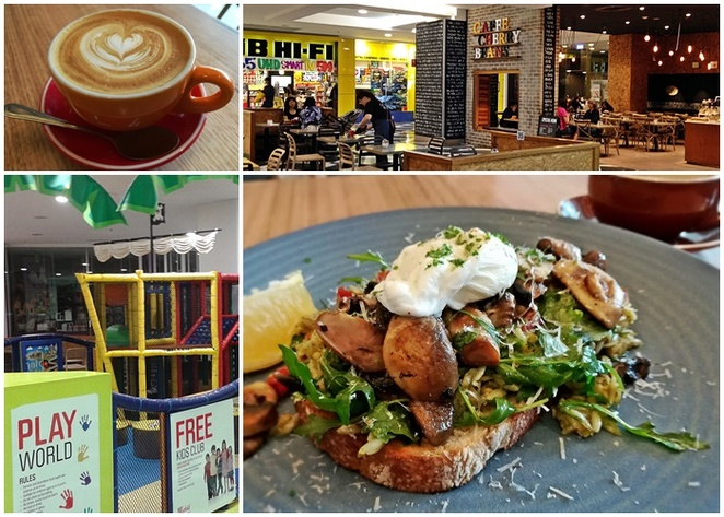 alexs breakfast, cafe cherry beans, woden, play world, westfield, woden westfield, shopping centre, best cafes, family friendly, ACT,