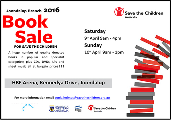 Annual UWA Book Sale, Save The Children, UWA, Fundraising Book Sale