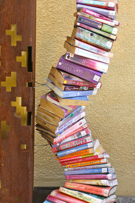 Book art in the lane way of Francis Street