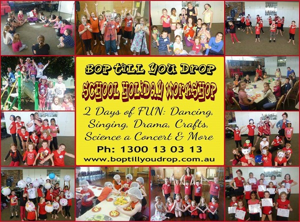 bop till you drop, school holiday workshops, creative school holiday workshops, school holidat activities, school holiday classes acting, school holiday classes dancing, school holiday classes singing
