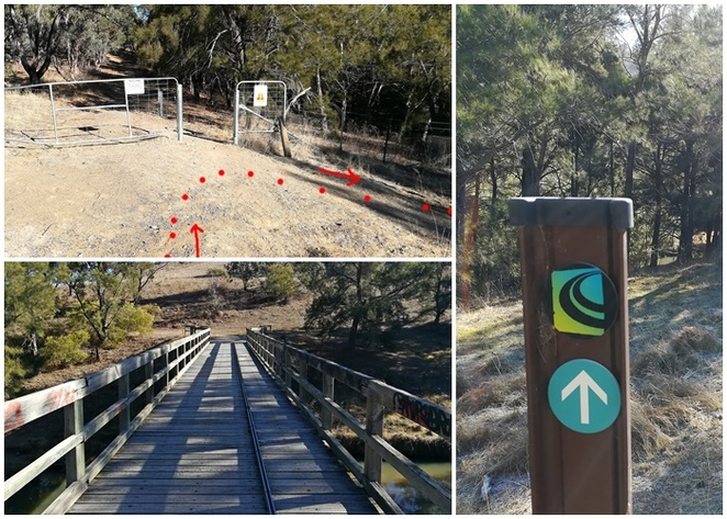 centenary trail, murrumbidgee river, tuggeranong boundary wall, red rocks gorge walk, murrumbidgee discovery track, hikes, walks, views, bridges, gates,