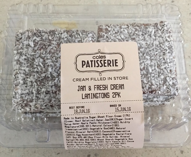 chocolate,lamington,from,Coles