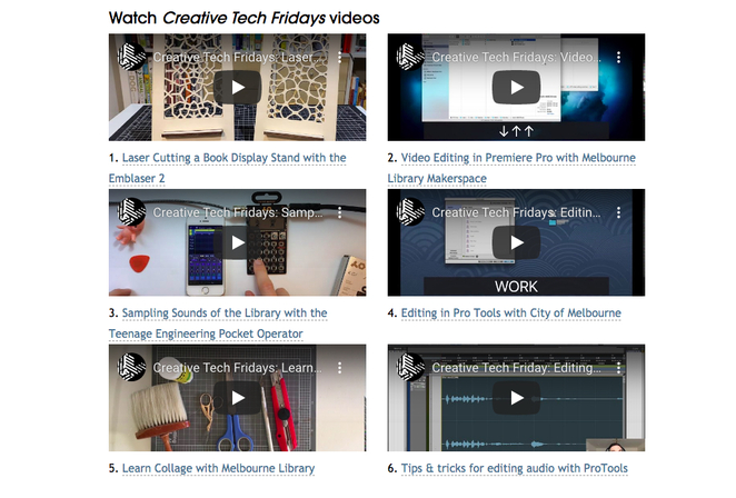 Creative Tech Fridays, State Library Victoria, digital content creation, creative technology, video editing, videos, tips and tricks, how to