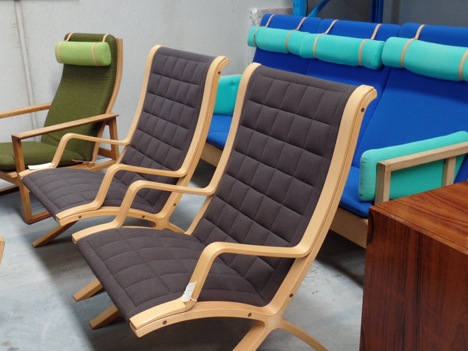Danish crafted easy chairs