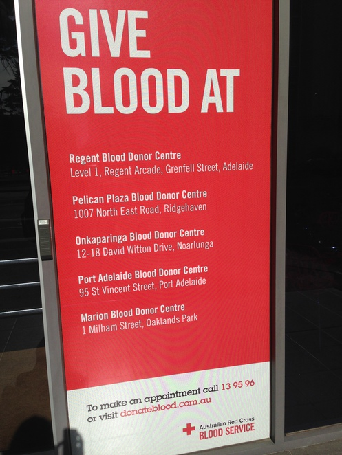 donate blood in Adelaide, charity in Adelaide, doing good for someone else