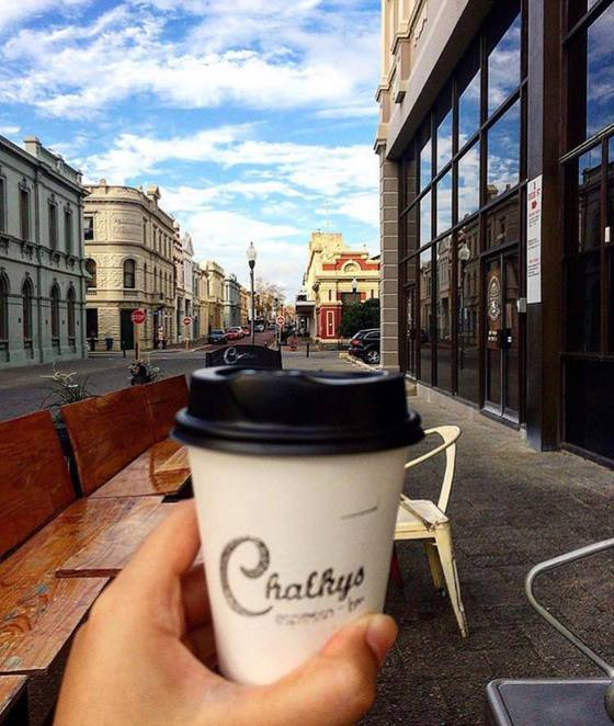 Fremantle, coffee, chalkys, cafe, Perth