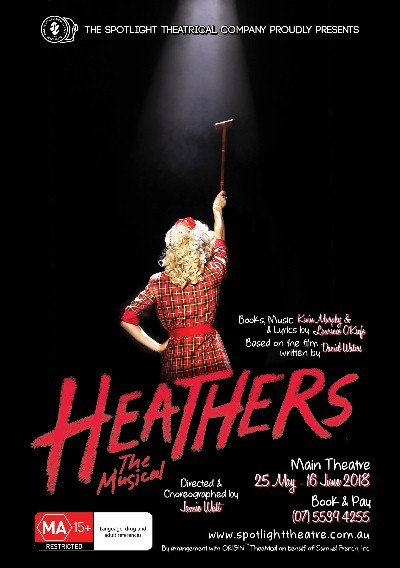 Heathers, The Musical, presented at Spotlight Theatrical Company