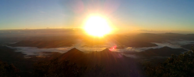 Sunrise seen from Mt Warning