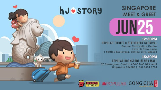 H-J Story, Popular bookstore, Singapore book store, caricature, cartoon merchandise