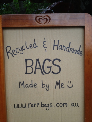 Buy a recycled bag?