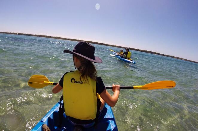 Paddling is a fantastic way for families to exercise together